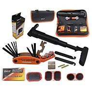 vest biking® multifunksjons dekk reparasjon av verktøy kit sykling sykkel reparasjonssett satt sykling dekk reparasjon med posen pumpe