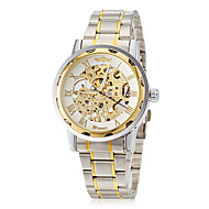 WINNER® Men's Elegant Skeleton Hollow Dial Steel Band Mechanical Hand Wind Wrist Watch (Assorted Colors) Cool Watch Unique Watch Fashion Watch