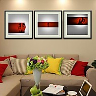 Abstract Framed Art Print Wall Art,PS Black Mat Included With Frame Wall Art
