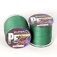 300/330 יארד PE  / Dyneema חוט קלוע חוט דיג ירוק 18LB 0.16 mm ל דיג בים / דיג בחכה / הטלת פיתיון / דיג קרח / Spinning