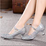 Zapatos de baile (Plata) - Salón de Baile/Moderno - No Personalizable - Tacón grueso