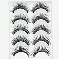 New 5 Pairs European Sytle Natural Black Long Thick False Eyelashes Party Eyelash for Beauty Makeup