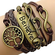 leather Charm BraceletsFashion Leather Multilayer Believe Wrap Bracelet inspirational bracelets Jewelry