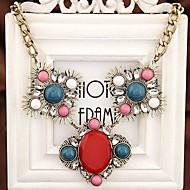 europæisk stil, mode metal temperament luksus perle halskæde