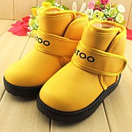 Boy's Girl's Boots Winter Fashion Boots Leatherette Casual Flat Heel Blue Yellow Green Orange