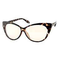 [Free Lenses] Mixed Materials Cat-Eye Full-Rim Retro Prescription Eyeglasses