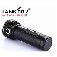 Tank007® פנס LED / פנסי יד LED 2000 Lumens 6 מצב Cree XM-L U2 18650עמיד למים / ניתן לטעינה מחדש / עמיד לחבטות / אחיזה נגד החלקה / Strike