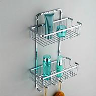 """Badeværelseshylde Rustfrit stål Vægmonteret 300 x 130 x 370mm (11.8 x 5.1 x 14.6"""") Rustfrit stål Moderne"""