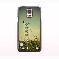 gepersonaliseerde telefoon geval - niet te veel nadenken ontwerp metalen behuizing voor Samsung Galaxy S5 mini