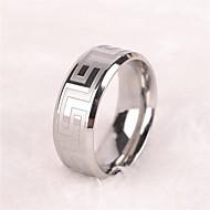 Men's Europe Simple Personality Titanium Steel Ring