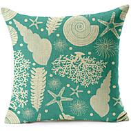 mušlemi vzor bavlna / len dekorativní polštář kryt