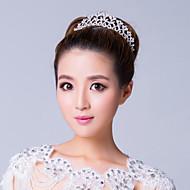 elegant sølvbelagt alloy rhinestone bryllup tiara
