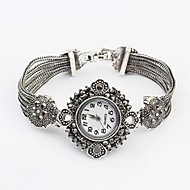 Women's European Style Alloy Band Quartz Bracelet Watch