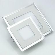 6w cuadrado indicador bicolor ultrafina luz del panel de la luz de techo