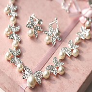 Women's Alloy/Imitation Pearl Jewelry Set Rhinestone
