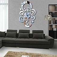 """20 """"h nowoczesny styl okrągłe koła 3d zegar ściany lustro podłubać akrylowe"""