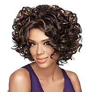 High Quality Heat Resistant Synthetic Soft Curl Mix Color Capless Synthetic Hair Wigs