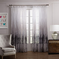 Dva panely Window Léčba Země Ložnice Polyester Materiál Sheer Záclony Shades Home dekorace For Okno