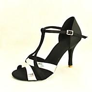 Zapatos de baile (Negro) - Danza latina/Salón de Baile - Personalizados - Tacón Personalizado