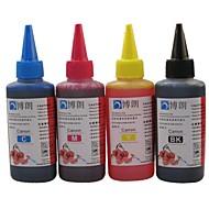 bloom® μελάνι βαφής 100ml συμβατό μελάνι ξαναγεμισμάτων για Canon όλα τα inkjet εκτυπωτή (4 χρώμα 1 lot)