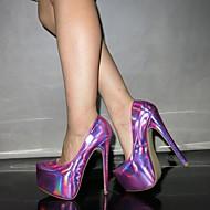 Pompe di scarpe da donna a punta tacco a stiletto punta partito scarpe più colori disponibili