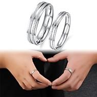 obe fin poklon modni mat titan čelika parovi ring prsteni za parove