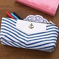 Azules estilo lápiz lápiz caso maquillaje cosmético del almacenaje del bolso monedero bolsa de la moneda monedero de la boda azul de retorno actual