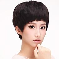 cabelo charmoso e cortês reta curta humano com estrondo lado preto natural