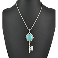 Vintage Silver Jewelry Lovely Turquoise Key Pendant Necklaces For Women
