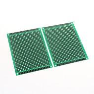 6 x 8cm Double-Sided Glass Fiber Prototyping PCB Universal Breadboard(2 pcs)