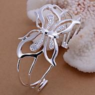 di fronte l'argento farfalla placcato braccialetto