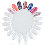1pc valse witte nagel tips nail art tips voor nail art praktijk nagellak Dispay nagel kleur praktijk