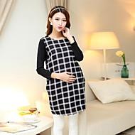 la moda de maternidad, ciñe el vestido de manga larga floja