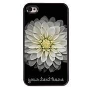 gepersonaliseerde telefoon case - groot lotus ontwerp metalen behuizing voor de iPhone 4 / 4s