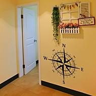 מדבקות קיר מדבקות קיר, ציטוטי מצפן קישוט בית מדבקות קיר PVC פוסטר ציור הקיר
