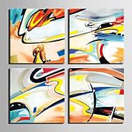 e-HOME® plátně umění abstraktní dekorace malířské sadu 4