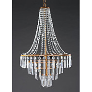 40W Chandelier ,  Modern/Contemporary / Traditional/Classic / Rustic/Lodge / Retro / Lantern / Country Antique Brass Feature for Crystal