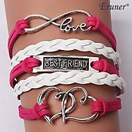 Armbanden Wikkelarmbanden / Lederen armbanden Legering / Leder Liefde Inspirerend Bruiloft / Feest / Dagelijks / Causaal / Sport Sieraden