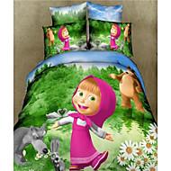 Duvet Cover Set,3D Cartoon Kid Bedding Sets Home Textiles Duvet Covers Flat Sheet Pillowcases 100% Cotton Cheap