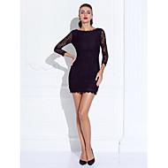 ts couture® prom / formel aften kjole plus size / kort kappe / kolonne juvel kort / mini blonde med