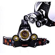 boruit 3x CREE XM-L T6 vezetett 5800lm fényszóró fényszóró zseblámpa powered by 2db 18650 elem