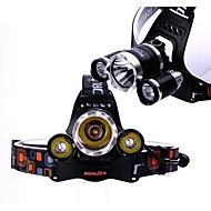 boruit 3x CREE XM-L T6 привели 5800lm фары фары факел питание от 2шт 18650 батарей