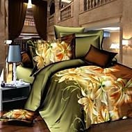 Baolisi  Floral Print 4-Piece Comfortable Sheet Set