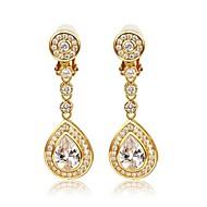 Chandelier Earrings Women's Brass Earring Cubic Zirconia