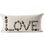 Cotton/Linen Pillow Cover , Text Modern/Contemporary
