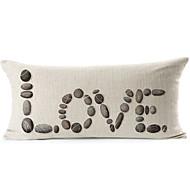 """cobblestoned """"kärlek"""" mönster bomull / linne dekorativa örngott"""