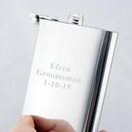 personalisiertes Geschenk Silber 18 Unzen Edelstahl Flachmann