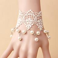 White Lace  Socialite Noble Jewelry Pearl Bracelet