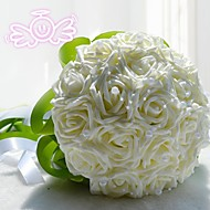 "Wedding Flowers Round Roses Bouquets Wedding Polyester / Lace 7.87""(Approx.20cm)"