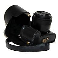 PANASONIC LUMIXのDMC-fz1000 fz1000用のショルダーストラップ付きdengpin PUレザーカメラ保護ケースバッグカバー
